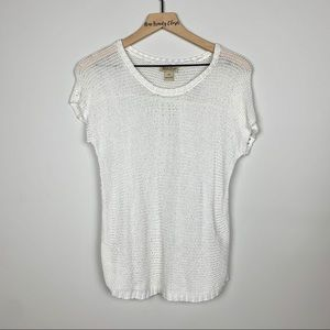 Lucky Brand | White Knitted Eyelet Top Size XSmall